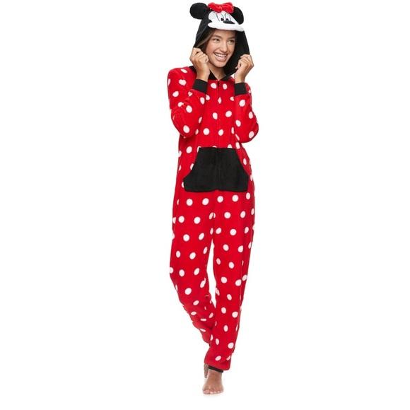 6652782d3ed Disney Intimates & Sleepwear   Size Lxl Minnie Mouse Print Onesie ...